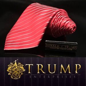 DONALD J. TRUMP~ SIGNATURE COLLECTION Red Striped